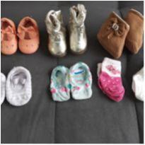 Lote de sapatinhos bebê menina - Pampili e Marisol - Tamanho 15