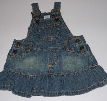 Jardineira Jeans Carter´s - 6 meses