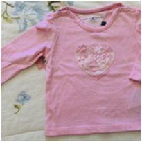 Camiseta Tommy Manga comprida - 3 a 6 meses - Tommy Hilfiger
