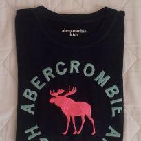 camiseta azul escuro da abercrombie original - 10 anos - Abercrombie
