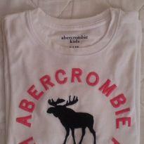 camiseta branca da abercrombie original - 10 anos - Abercrombie
