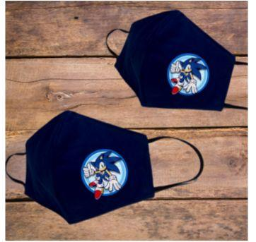 Mascara Infantil Sonic - Sem faixa etaria - VILLA DORCAS BABY