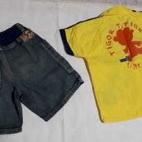 conjunto amarelinho Tigor - 12 a 18 meses - Tigor Baby