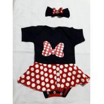 body Minnie - 3 a 6 meses - sem etiqueta