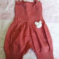 Jardineira coração Lilica - 6 a 9 meses - Lilica Ripilica Baby