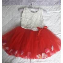 Vestido pétalas importado - 12 a 18 meses - Importada