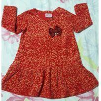 Vestido de plush - 1 ano - Duduka
