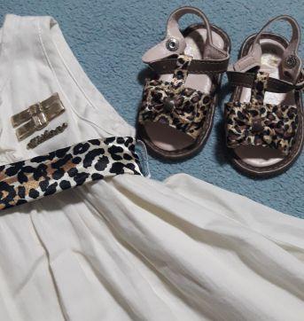 Vestido com sandália - 1 ano - Milon