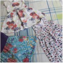 Trio de vestidos - 2 anos - Diversas
