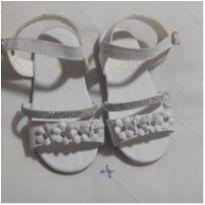 Sandália branca Strass