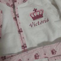 Roupão princesa Victória - 12 a 18 meses - Sem marca