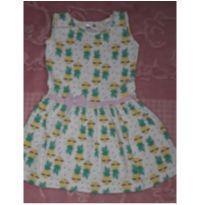 Vestido abacaxi - 2 anos - sem etiqueta