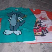 camiseta - duas por R$8,00 - 3 anos - Não informada
