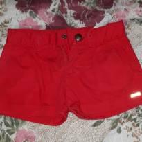 shorts vermelho - 2 anos - Rovitex