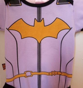 Body Baby Batgirl Uniforme - 6 a 9 meses - Piticas