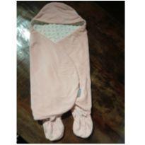 Manta de Bebê com Pezinho para Vestir - 0 a 3 meses - Não informada