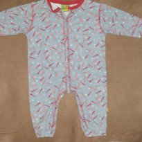 lote contendo dois macacões tipo pijama - 3 a 6 meses - Puc Baby