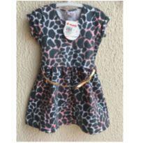 Vestido Onça - 4 anos - Brandili