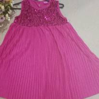 Vestido Plissado Paete Barbie - 7 anos - Barbie