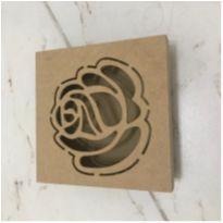 Caixa Rosa vazada -  - Artesanal