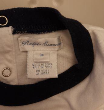 Body Ralph Lauren - 9 meses - Ralph Lauren