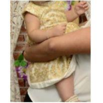 Vestido festa - 9 a 12 meses - vestido de tecido novo