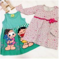 Lote 6 vestidos tam 1 - 1 ano - marisa e Brandili
