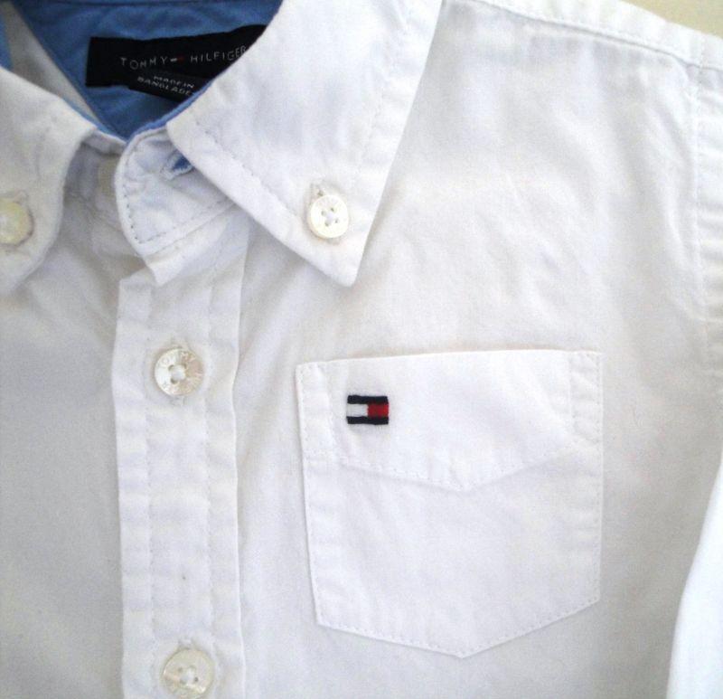 1985dd6cfa Camisa social branca- legítima TOMMY HILFIGER- 12 meses 1 ano no ...