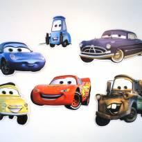 Decoração de parede- festa infantil - Carros Disney - 6 unidades E.V.A. -  - Disney
