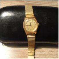Relógio Tecnos anos 70 vintage pulseira malha funciona a corda -  - Não informada