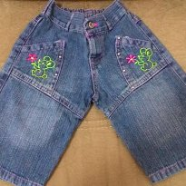 Short Jeans bordado - 3 anos - Anex Confecções