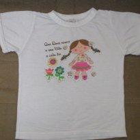 Camiseta Menina de Trança - 4 anos - Ponto de Equilibrio