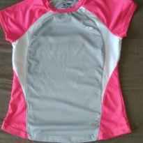 Camiseta Champion Rosa e Cinza - 7 anos - Champion