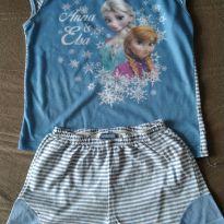 Pijama Frozen Verão Listrado - 8 anos - Disney