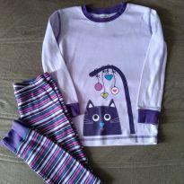 Pijama Gato - Lilás - 8 anos - Kirkland