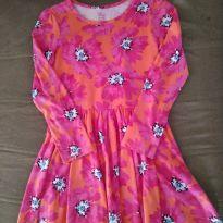 Vestido Floral Rosa - 7 anos - Est. 1989
