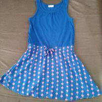 Vestido azul com bolinhas rosa - 7 anos - Crazy 8