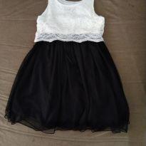 Vestido de Festa Creme com Preto - 7 anos - Speeckless