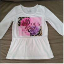 Blusa Creme One of a Kind - 8 anos - Justice USA