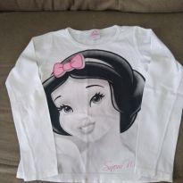 Camiseta Manga Longa Branca de Neve - 6 anos - Disney