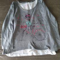2 peças - Blusinha Bike - 8 anos - Palomino