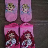 Meia Soquete Princesas - 4 anos - Disney