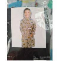 Roupão de Fleece Carrinhos - 6 anos - Não informada