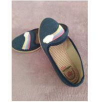 Slipper jeans infantil molekinha de arco-íris azul - 30 - Molekinha