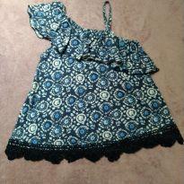 Blusa Abercrombie Azul - 8 anos - Abercrombie