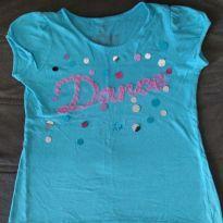 Blusa azul Dance - 7 anos - Est. 1989