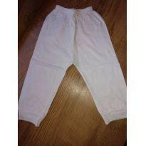 Calça branca - 6 meses - LUIZINHO BABY
