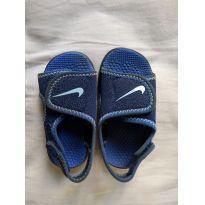 abe99eb13a XIII O PIETRO CRESCEU Sandália Nike Azul Marca  Nike   Tamanho 21   de R   45