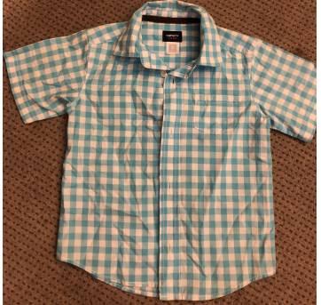 Camisa social xadrez azul CARTERS - 3 anos - Carters - Sem etiqueta