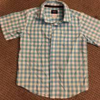 Camisa social xadrez azul CARTERS